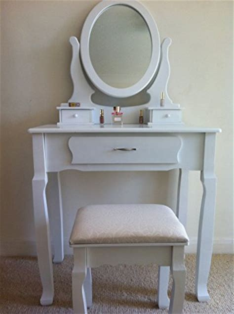 Dressing Table Mirror And Stool Set by White Dressing Table Set With Adjustable Oval