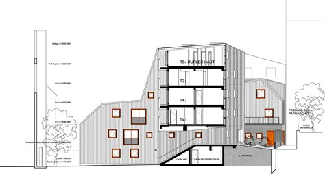 housing section gallery of social housing vous 202 tes ici architectes 30