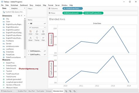 tableau product tutorial blended axis in tableau
