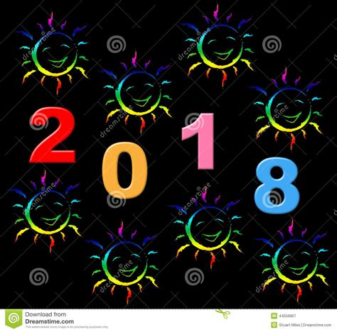 new year represents new year represents two thosand eighteen and celebrate
