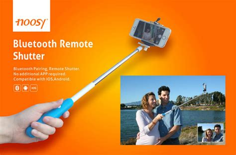 Tongsis Wirelles noosy tongsis wireless self timer monopod for ios and