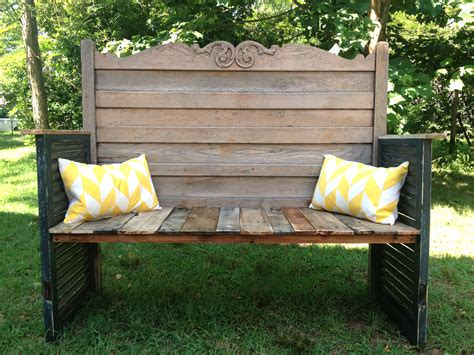 upcycled headboard garden bench omero home