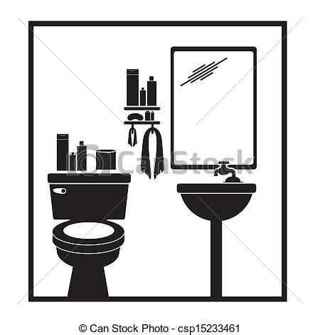 badezimmer clipart clip vektor badezimmer piktogramm aus wei 223 es