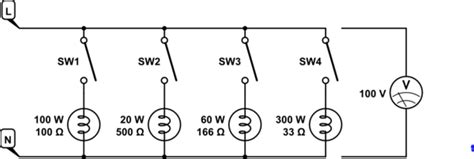 resistors in parallel to increase wattage two bulbs of different wattage in one ac circuit electrical engineering stack exchange