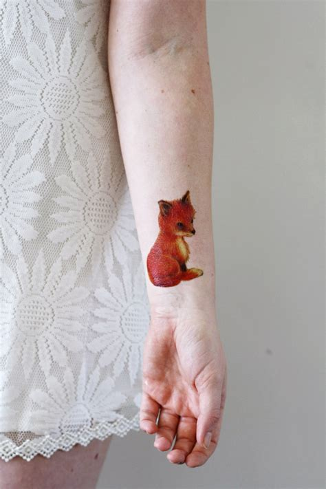 cute temporary tattoos fox temporary temporary tattoos by