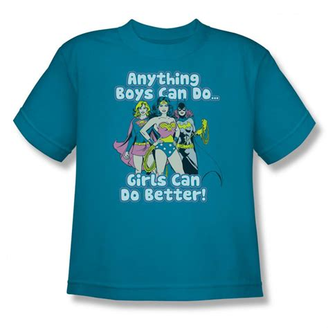 Kaos Superheroes Justice League You Can T Save The World Alone dc comics justice league can do it better turquoise