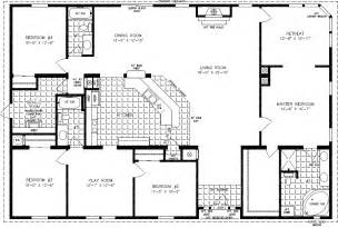 4 bedroom open floor plans floorplans for manufactured homes 2000 square up