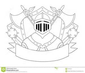 Medieval Castle Interior Design Medieval Templar Knight Armor Set Contour Stock Vector