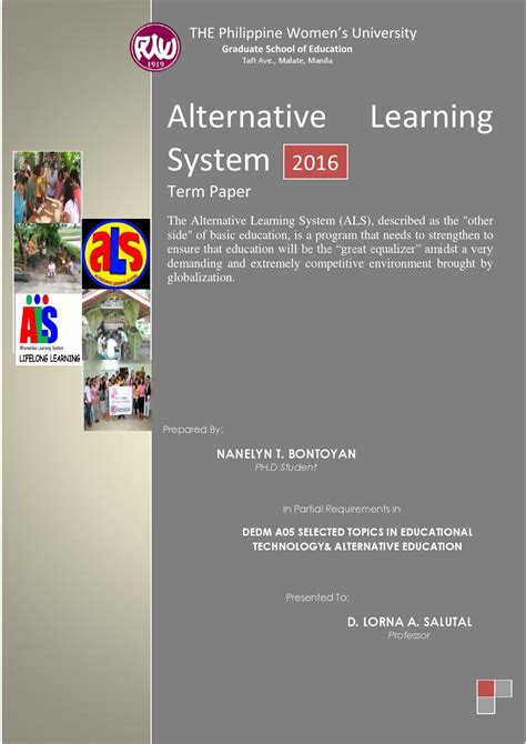 Taft System Mba by Alternative Learning System By 21st Century Issuu