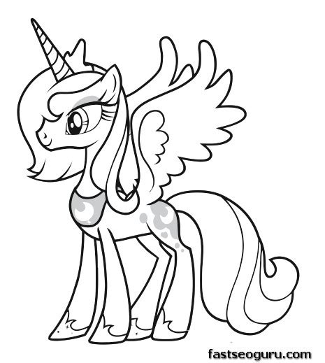 my little pony coloring pages princess luna and celestia printable my little pony friendship is magic princess luna