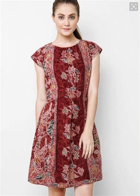 Dress Batik Modern Bisa Seragam Stok Banyak 13 top model baju batik dress yang banyak di cari baju terbaru