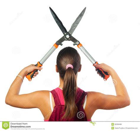 forbici da giardiniere taglio femminile giardiniere con le forbici di