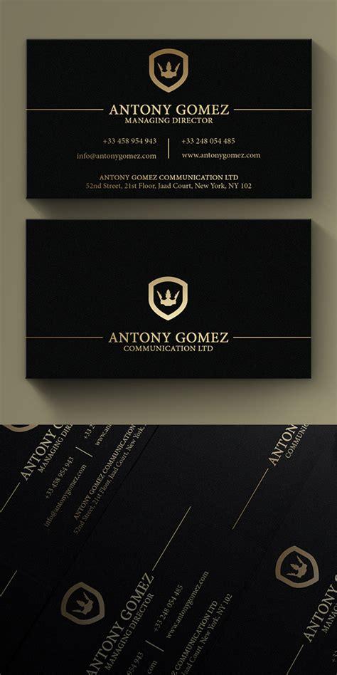 Kreditkarten Design Vorlagen simple gold and black business card businesscard