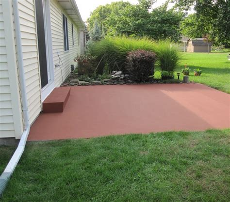 How To Clean Colored Concrete Patio by Colorpave Color Coating A Concrete Patio Traditional