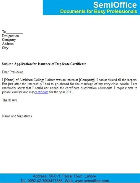 Request Letter Format For Degree Certificate Employment Application Certification Employment Application