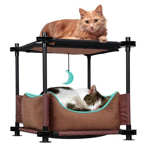 cat beds target kitty city cat cozy bed brown target