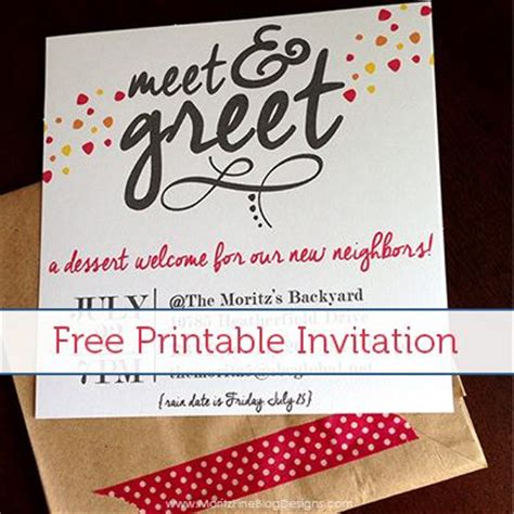 Invitation Letter Neighborhood Meet Greet Free Printable Invitation Printable Invitations Free Printable Invitations And Meals