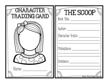 character trading cards template character trading cards traits motivations feelings