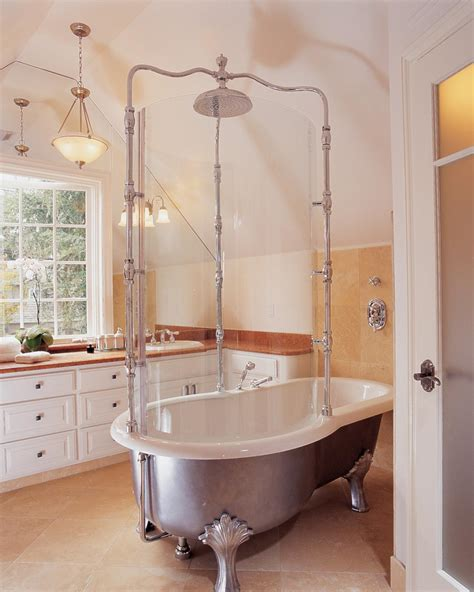 clawfoot tub bathroom remodel bathroom accessories shower rods page 14 modern bathroom