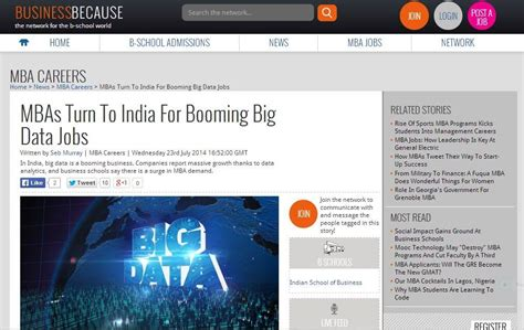 Mba In Big Data In India by News For Mbas In India Data Analytics And Big Data