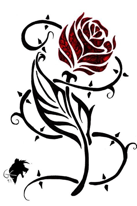 heart rose and vine tattoo designs vine designs new tribal vine