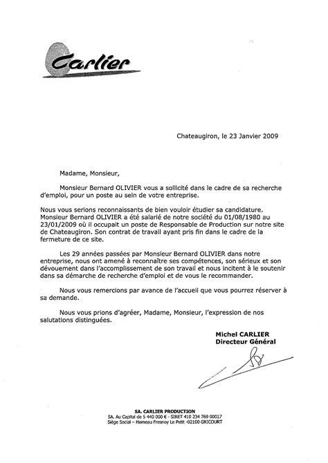 Lettre De Non Recommandation Olivier Bernard
