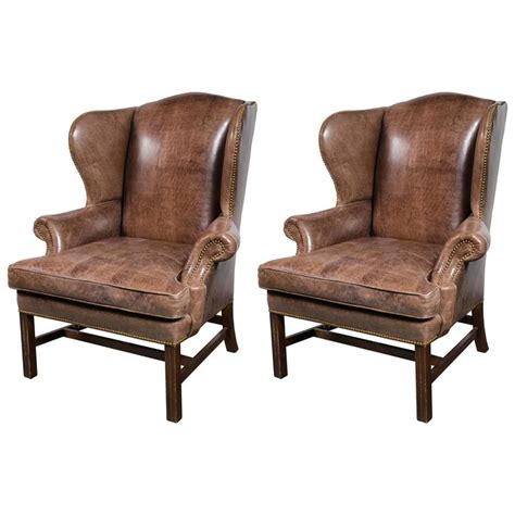 oversized recliners for sale pair of oversized leather wing chairs for sale at 1stdibs