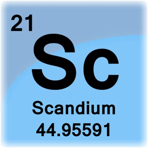 Scandium Periodic Table by Scandium Element Cell Science Notes And Projects