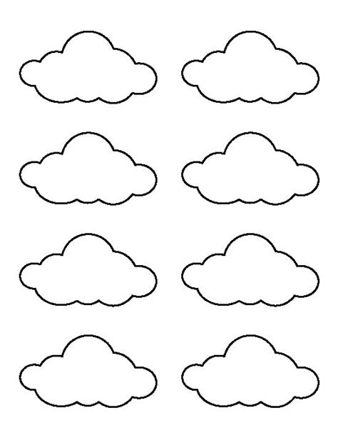 Cloud Template Small Cloud Pattern Use The Printable Outline For Crafts