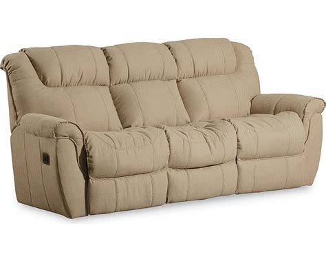 lane reclining sofas and loveseats montgomery 2 arm double reclining sofa w table massage