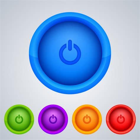 imagenes de botones web gratis botones de encendido de colores descargar vectores gratis