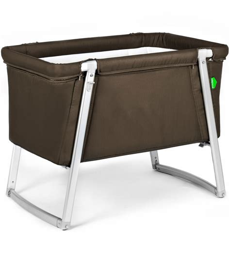 baby crib brown babyhome bassinet brown