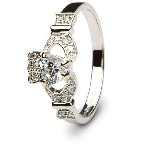 claddagh engagement ring sl 14l68wdd