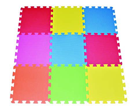 Multi Color Foam Floor Mat 9 12 quot x12 quot tile multi color play mat solid foam floor