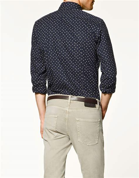 Zara Shirt 2 zara polka dot shirt in white for lyst