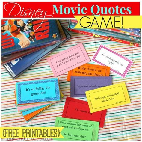 film quiz cards disney movie quotes game with free printables free