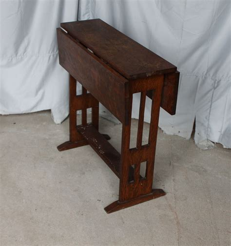 Drop Leaf Craft Table Bargain S Antiques 187 Archive And Crafts Mission Style Small Drop Leaf Table Cut