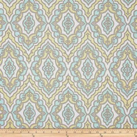 L Fabric by Daydream Cotton Quilt Fabric L Best Friend Aqua