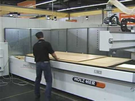 holzer woodworking machinery holz dynestic cnc machine in creating a cabinet