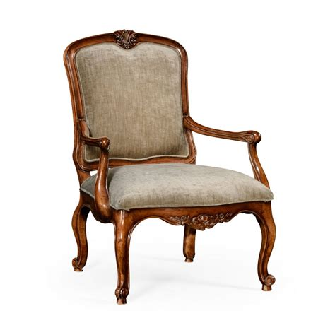 french style armchairs french style walnut velvet armchair swanky interiors