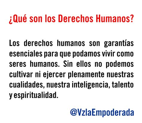 cuales son derechos humanos 191 qu 233 son los derechos humanos ddhh venezuela empoderada