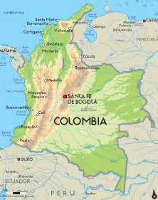 colombia map south america america map oceania map columbian map road map of columbia