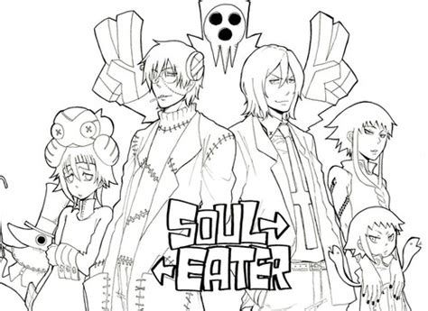 Printable Soul Eater Coloring Pages Coloring Me Soul Eater Coloring Pages
