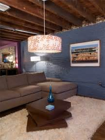 ideas for finishing concrete basement walls unfinished basement playroom ideas