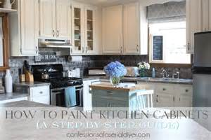 how to paint kitchen cabinets a step by step guide