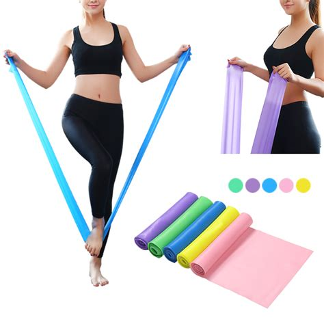 Elastic Rubber Stretch Rope Pilates Limited equipment 1 5m pilates rubber stretch resistance bands elastic sports bands