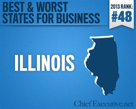 Top Mba Programs In Illinois by Illinois Is The 48th Best State For Business 2013