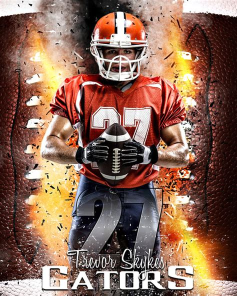 Sports Photography Templates sports poster photo template for football football inferno