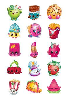 printable shopkins stickers 30 shopkins edible paper cupcake cup cake topper image