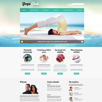 bootstrap templates for practice yoga bootstrap themes templatemonster